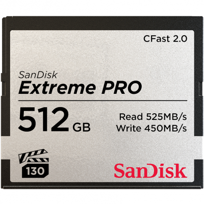 SanDisk Extreme PRO CFast 2.0 Card 525MB/s 512GB