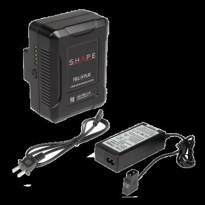 Shape V-Mount Battery + D-Tap Travel Battery Charger (1V98CH)